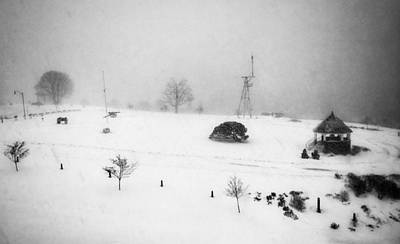 Photograph - Fort Allen Park Blizzard 2018 by Patricia E Sundik