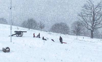 Photograph - Fort Allen Park Fun In The Snow by Patricia E Sundik