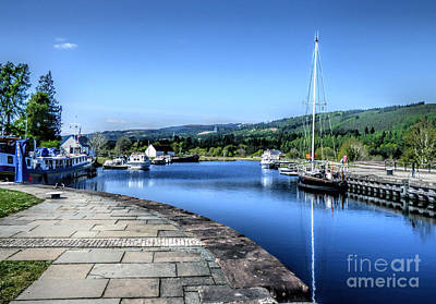 Caledonian Canal Photograph - Fort Augustus Scotland by Lynn Bolt