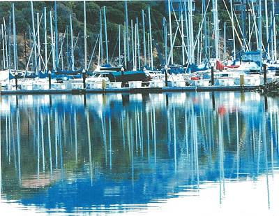 Fort Baker Harbor - Sausalito Ca. - Below Vista Point At The North End Of The Golden Gate Bridge Art Print