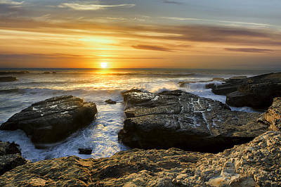Photograph - Fort Bragg Coast Sunset by PhotoWorks By Don Hoekwater