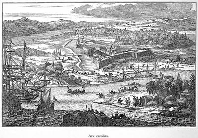 Fort Caroline, 1673 Art Print by Granger