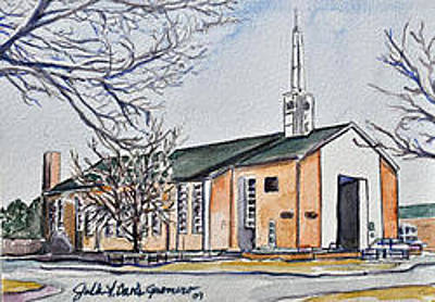 Painting - Fort Carson Soldier's Memorial Chapel by Julie Davis
