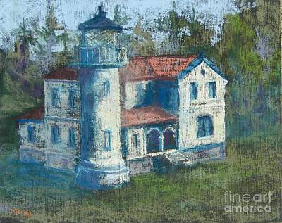Pastel - Fort Casey Admiralty Head Light House by Marlene Kingman