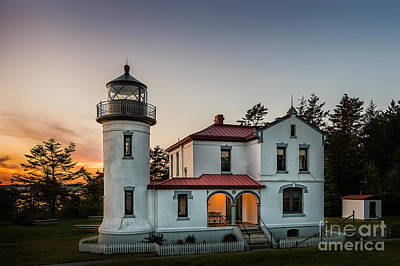 Photograph - Fort Casey Lighthouse by Sonya Lang
