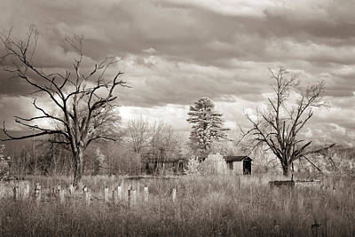 Photograph - Fort Chaffee Ruins Sepia by James Barber