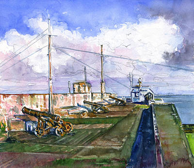 Painting - Fort Charlotte, Kingstown by John D Benson