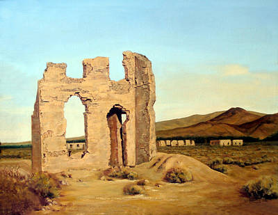 Painting - Fort Churchill Nevada by Evelyne Boynton Grierson