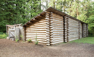 Photograph - Fort Clatsop Exterior by Tom Cochran