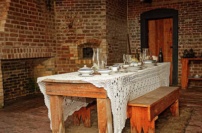 Photograph - Fort Clinch Dining Table by Sally Weigand
