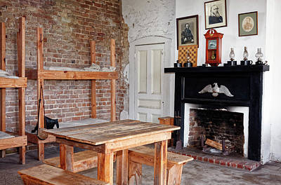 Photograph - Fort Clinch Officers Quarters  by Sally Weigand
