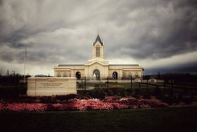 Fort Collins Lds Temple East Side Art Print by David Zinkand