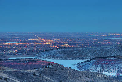 Photograph - Fort Collins Nightscape by Marek Uliasz