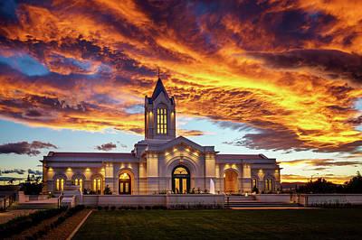 Fort Collins Temple Sunset Art Print