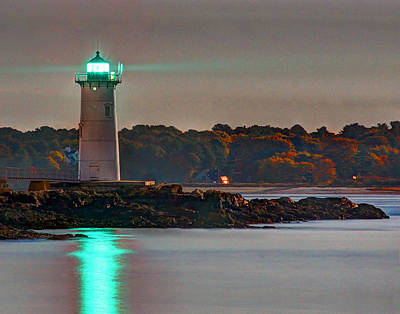 Photograph - Fort Constitution Light 7352 by Jeff Stallard
