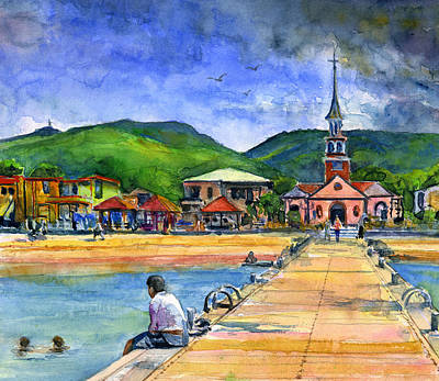 Painting - Fort De France Martinique by John D Benson