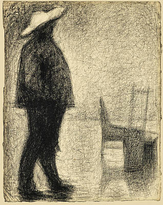 Georges Seurat Drawing - Fort De La Halle by Georges Seurat