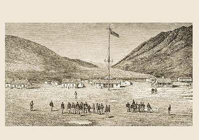 Fort Douglas Camp And Red Buttes Ravine Print by Vintage Design Pics