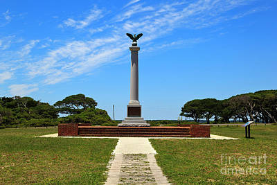 Photograph - Fort Fisher Confederate Monument by Jill Lang