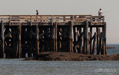 Photograph - Fort Foster Pier by Mark Alesse
