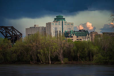 Fort Garry Hotel/fort Garry Place Art Print by Bryan Scott