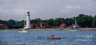 Photograph - Fort Gratiot Lighthouse And Lake Huron by Grace Grogan