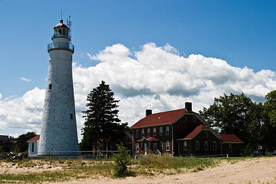 Port Huron Photograph - Fort Gratiot Lighthouse by James Marvin Phelps