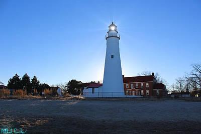1st Base Photograph - Fort Gratiot Lighthouse by Michael Rucker