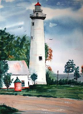 Fort Gratiot Lighthouse Michigan Art Print