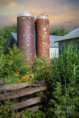 Farming Digital Art - Fort Halifax Silos by Lori Deiter