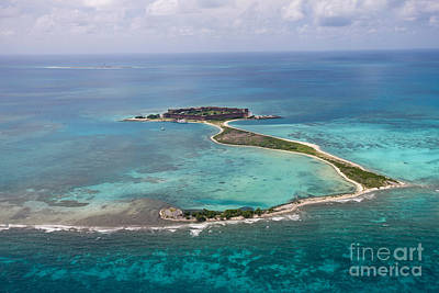 Fort Jefferson Aerial View Dry Tortugas National Park Art Print by Jason O Watson