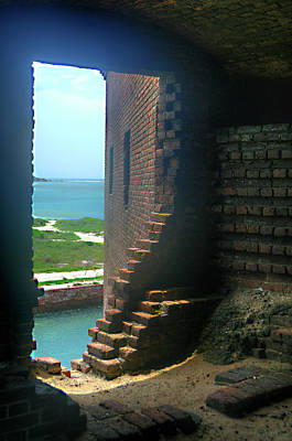 Photograph - Fort Jefferson - Dry Tortugas Inside Room by Timothy Lowry