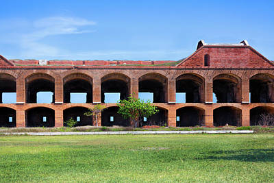 Photograph - Fort Jefferson Interior by John M Bailey