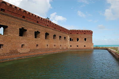 Photograph - Fort Jefferson Moat 2 by Christopher James
