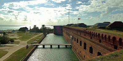 Photograph - Fort Jefferson Moat 3 by Christopher James