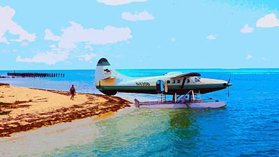 Digital Art - Fort Jefferson Sea Plane by Andy Jeter