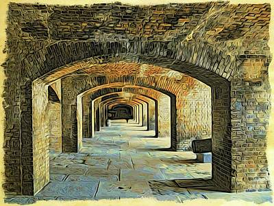 Photograph - Fort Jefferson View Four by Alice Gipson