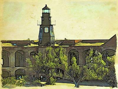 Photograph - Fort Jefferson View Three by Alice Gipson