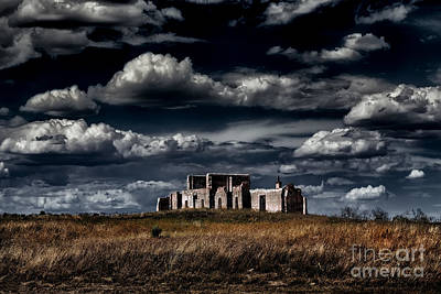 Photograph - Fort Laramie Hospital Ruins by Jon Burch Photography