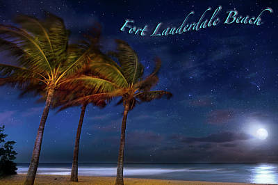 Photograph - Fort Lauderdale Beach Greeting by Mark Andrew Thomas
