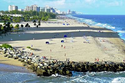 Fort Lauderdale Beach Park Art Print by Kirsten Giving