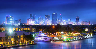 Photograph - Fort Lauderdale Skyline by Mark Andrew Thomas