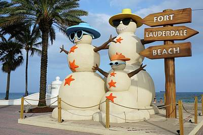Photograph - Fort Lauderdale Snowman by Jason Pepe