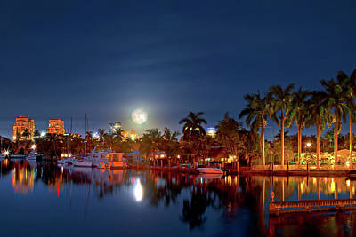 Photograph - Fort Lauderdale Super Moon by Mark Andrew Thomas