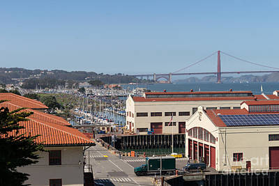 Photograph - Fort Mason San Francisco California With Golden Gate Bridge In The Background Dsc3159 by Wingsdomain Art and Photography