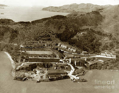 Photograph - Fort Mcdowell On Angel Island With The Golden Gate And Fort  Baker 1920 by California Views Mr Pat Hathaway Archives