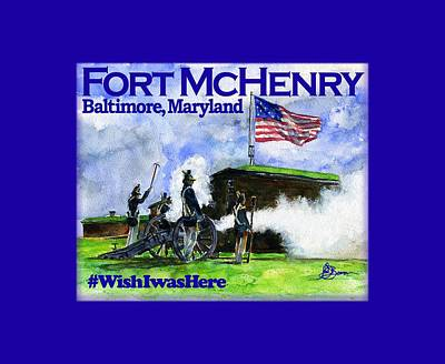 Painting - Fort Mchenry 1 Shirt by John D Benson