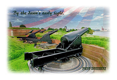 Mixed Media - Fort Mchenry by Brian Wallace
