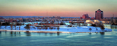 Fort Mchenry Shrouded In Snow Art Print