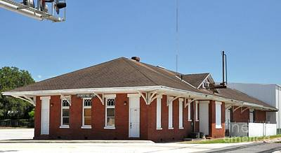 Photograph - Fort Meade Florida Railroad Depot by John Black